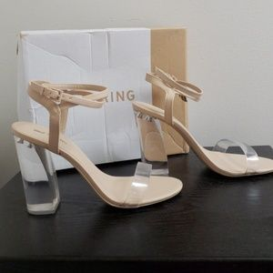 4bc6f7f1ba3 Call It Spring Women's Ocalide Nude & Clear Heels